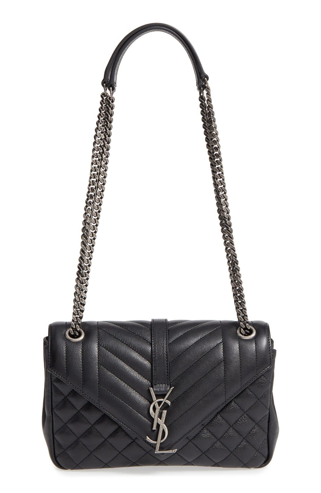 Saint Laurent Medium Monogram Quilted Calfskin Shoulder Bag