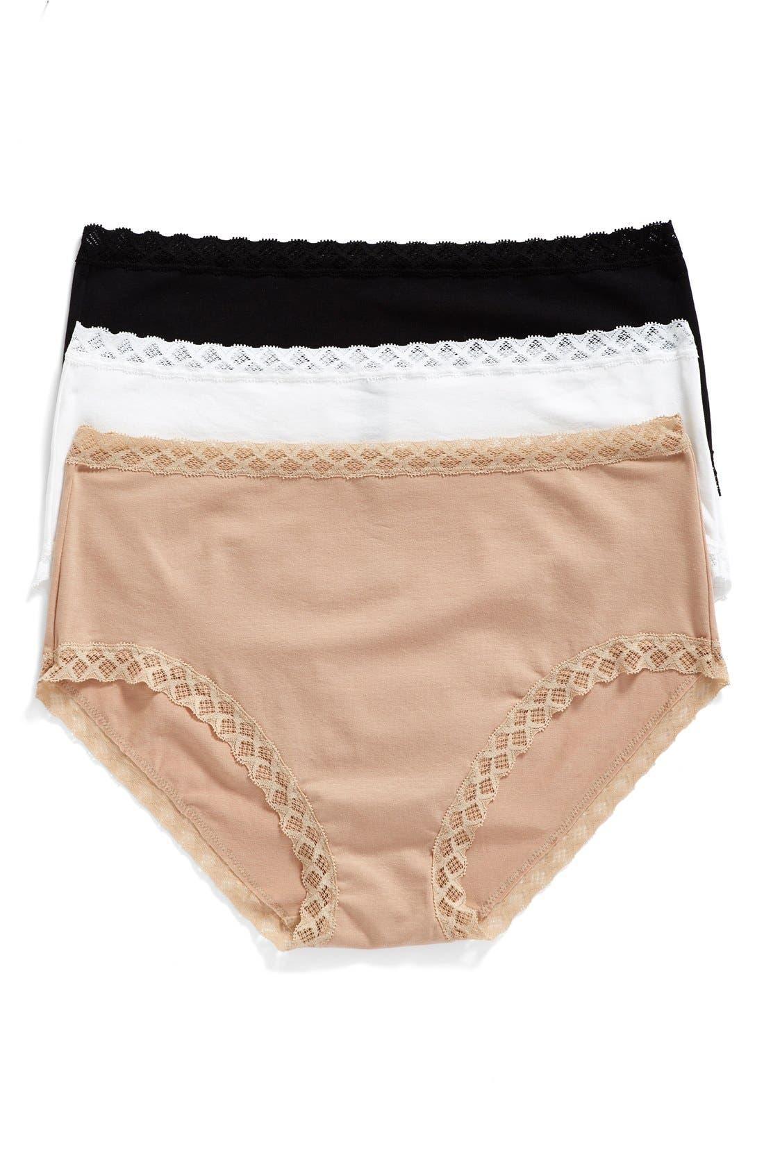 Main Image - Natori Bliss 3-Pack Cotton Full Briefs