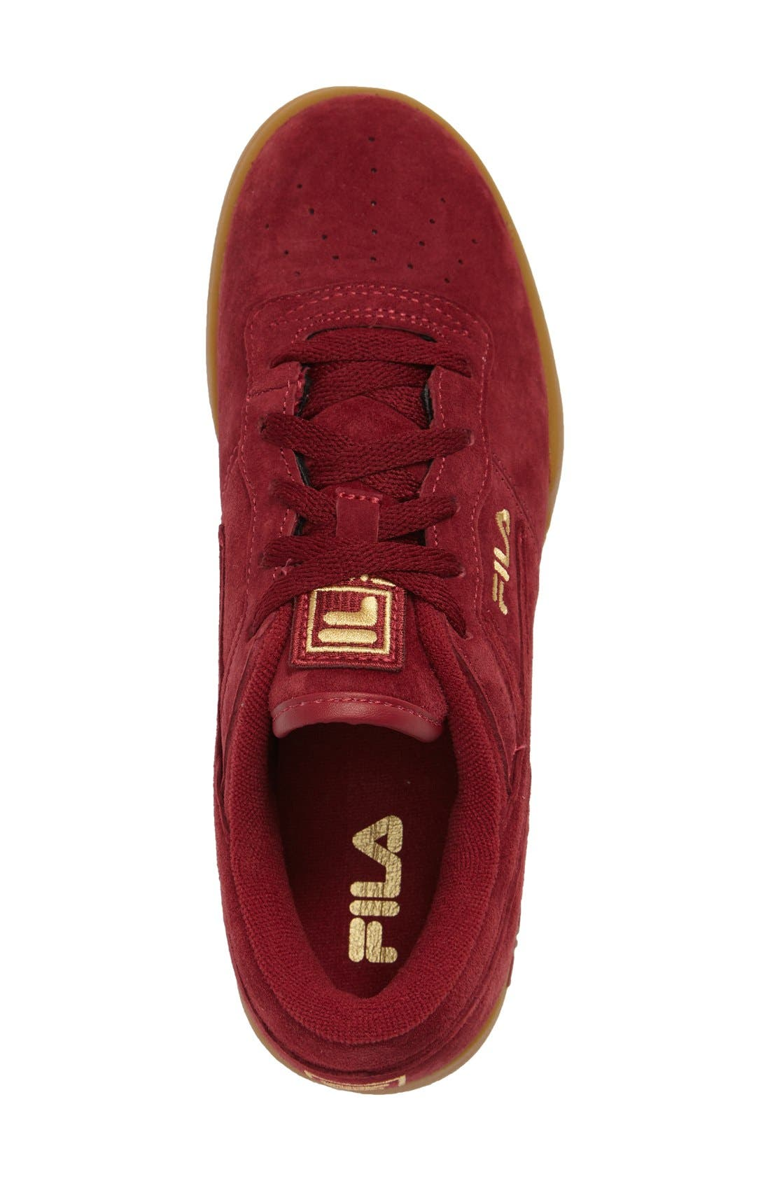 Heritage Sneaker,                             Alternate thumbnail 3, color,                             Biking Red Suede