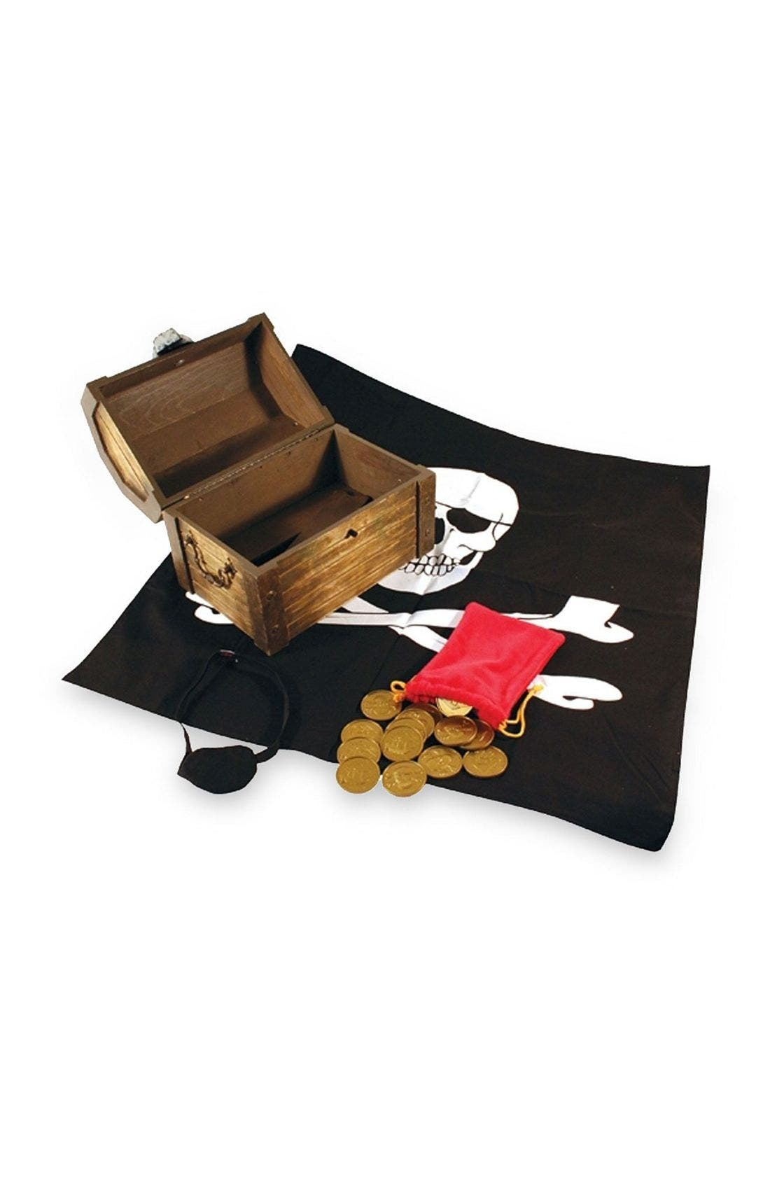 Alternate Image 1 Selected - Melissa & Doug Wooden Pirate Chest