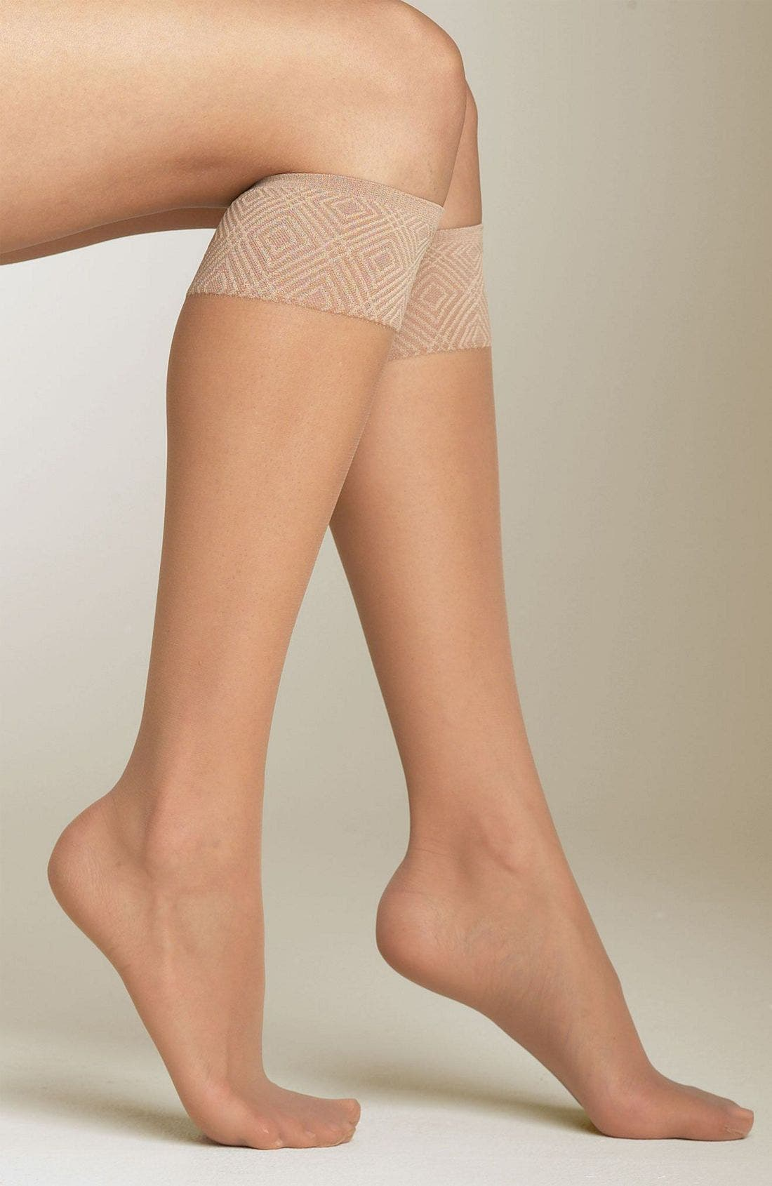 Sheer Knee Highs,                         Main,                         color, Nude