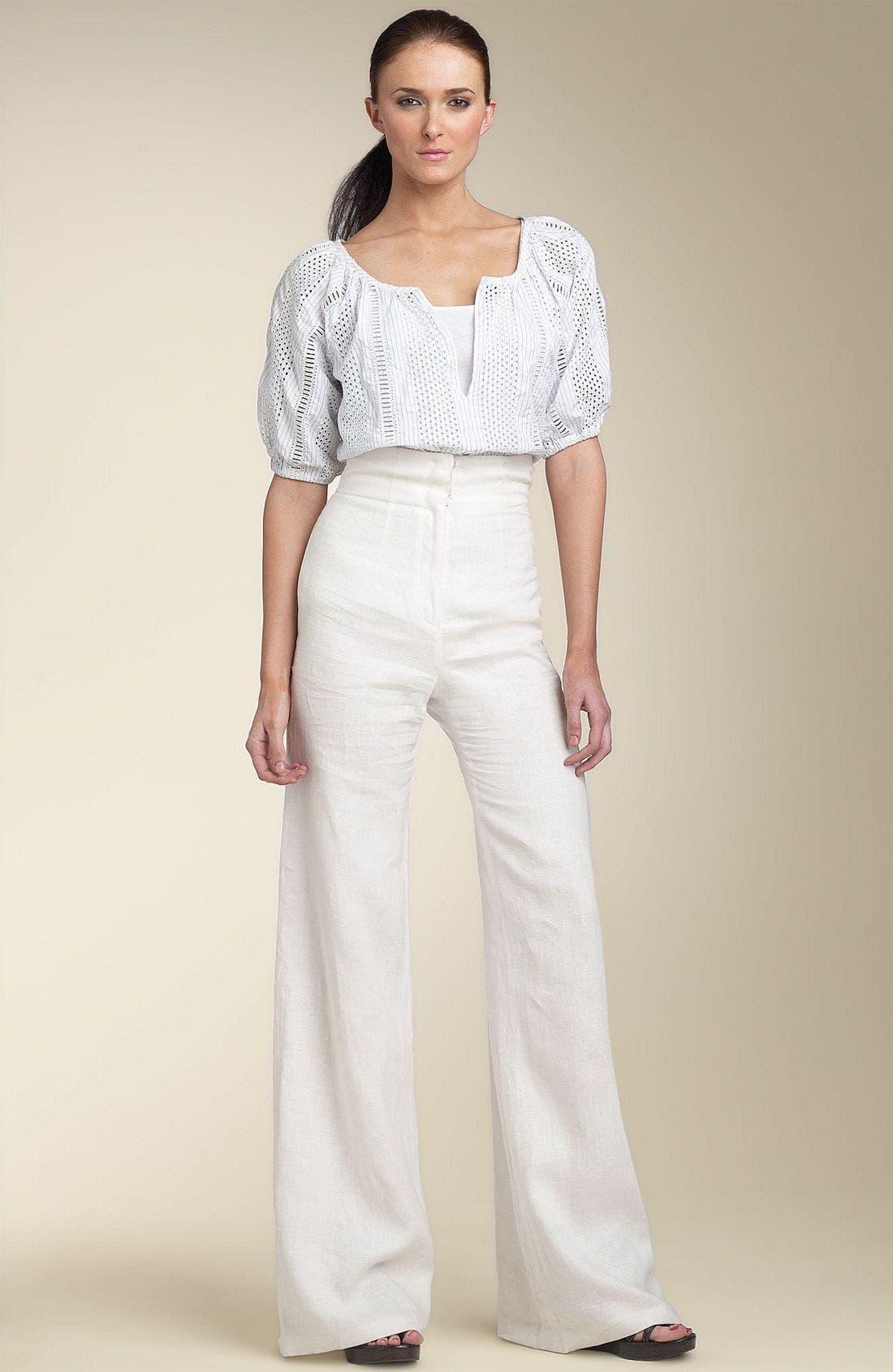 Alternate Image 4  - Organic John Patrick High Waist Crinkled Linen Pants