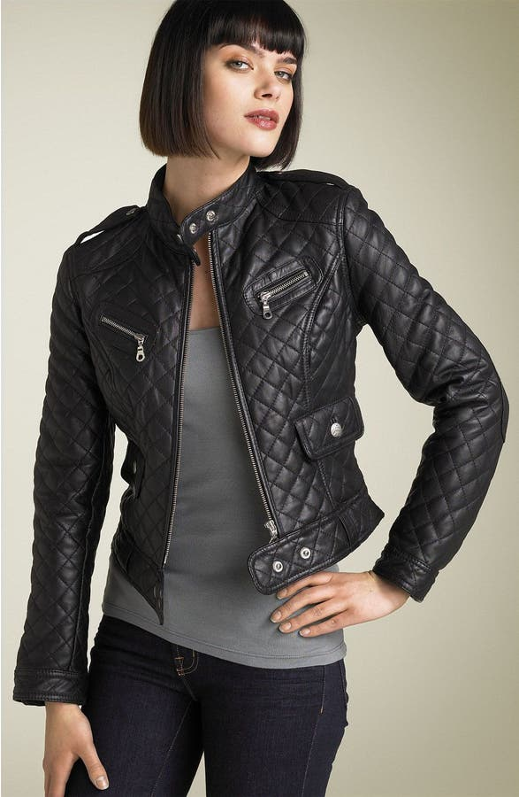 Kenna-T Quilted Leather Moto Jacket   Nordstrom : quilted moto jacket - Adamdwight.com