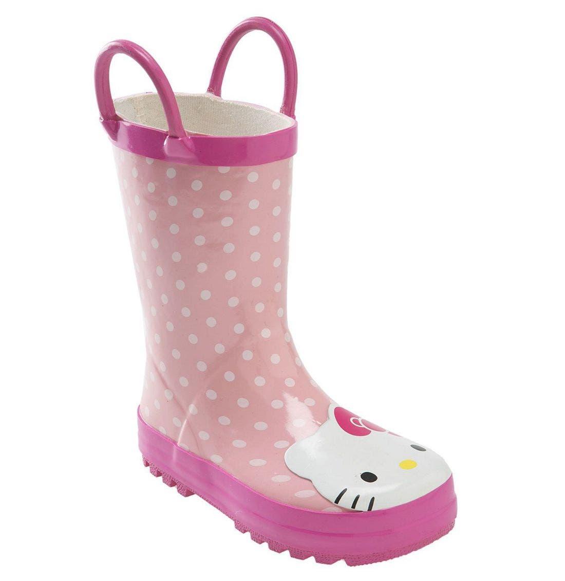 Main Image - Western Chief 'Hello Kitty®' Rain Boot (Walker, Toddler, Little Kid & Big Kid)