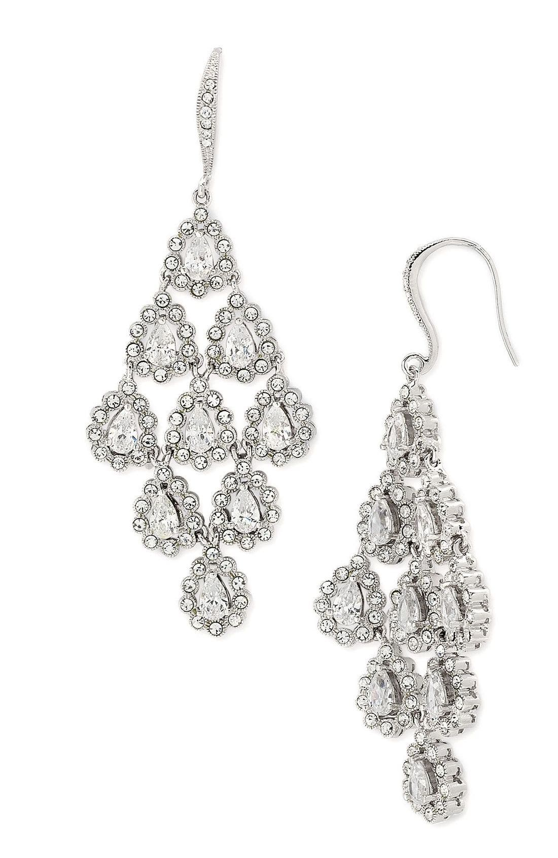 Alternate Image 1 Selected - Nadri Tiered Chandelier Earrings