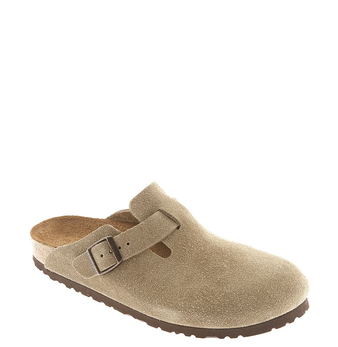 Alternate Image 1 Selected - Birkenstock 'Boston' Classic Suede Clog (Women)