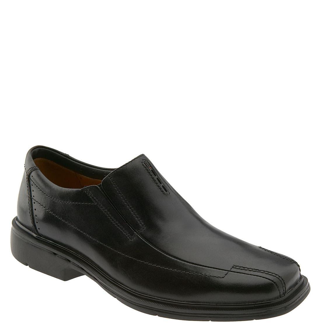 'Un.Sheridan' Slip-On,                             Main thumbnail 1, color,                             Black Leather