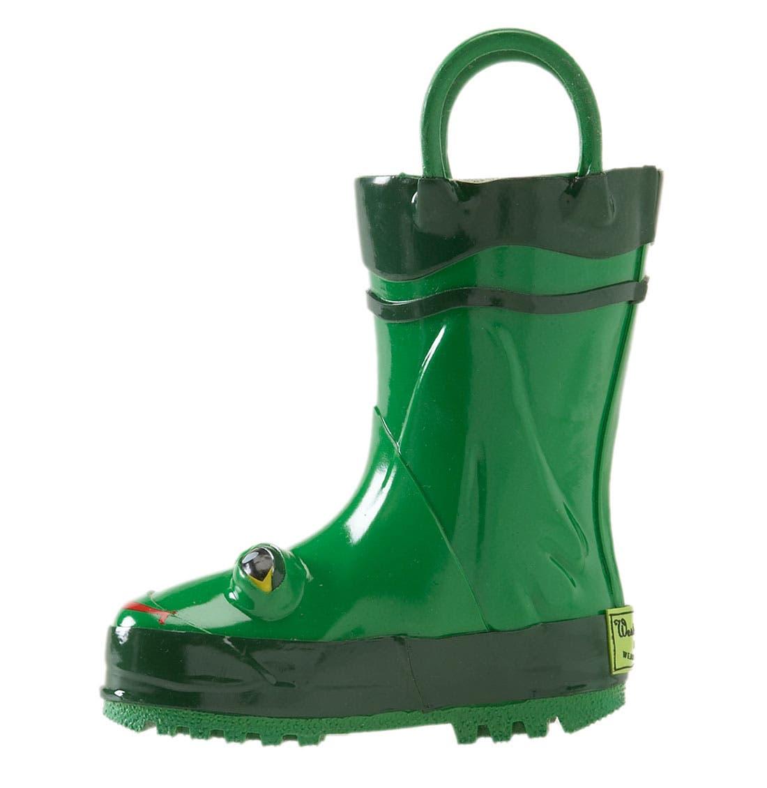Alternate Image 2  - Western Chief 'Frog' Rain Boot (Walker, Toddler, Little Kid & Big Kid)