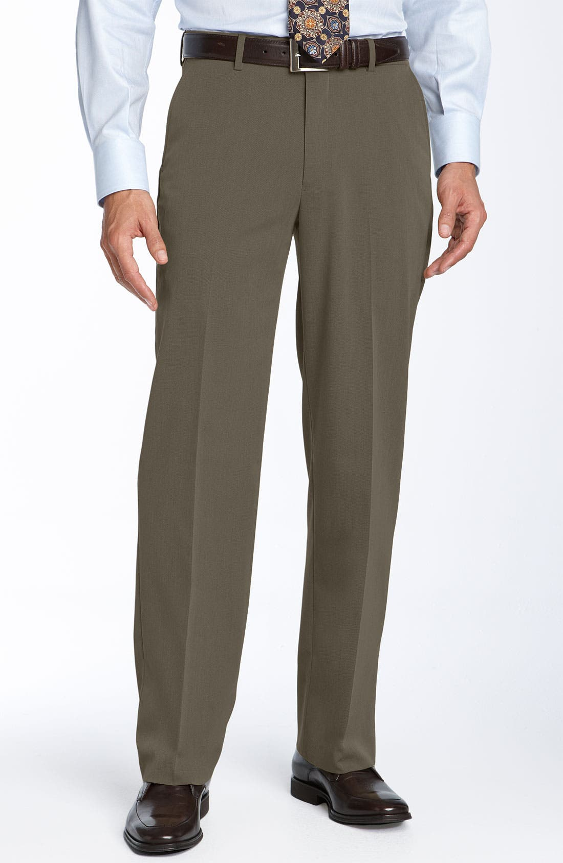 Main Image - Ballin Comfort EZE Flat Front Trousers