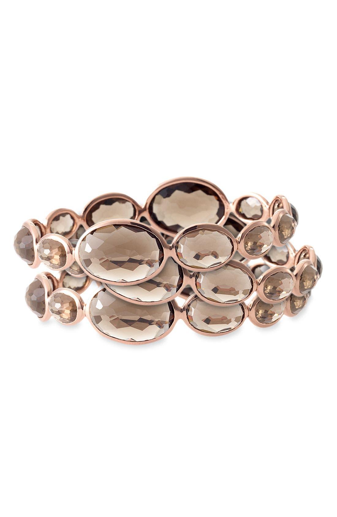 Main Image - Ippolita 'Rock Candy Cameo' Smoky Quartz Rosé Bracelet