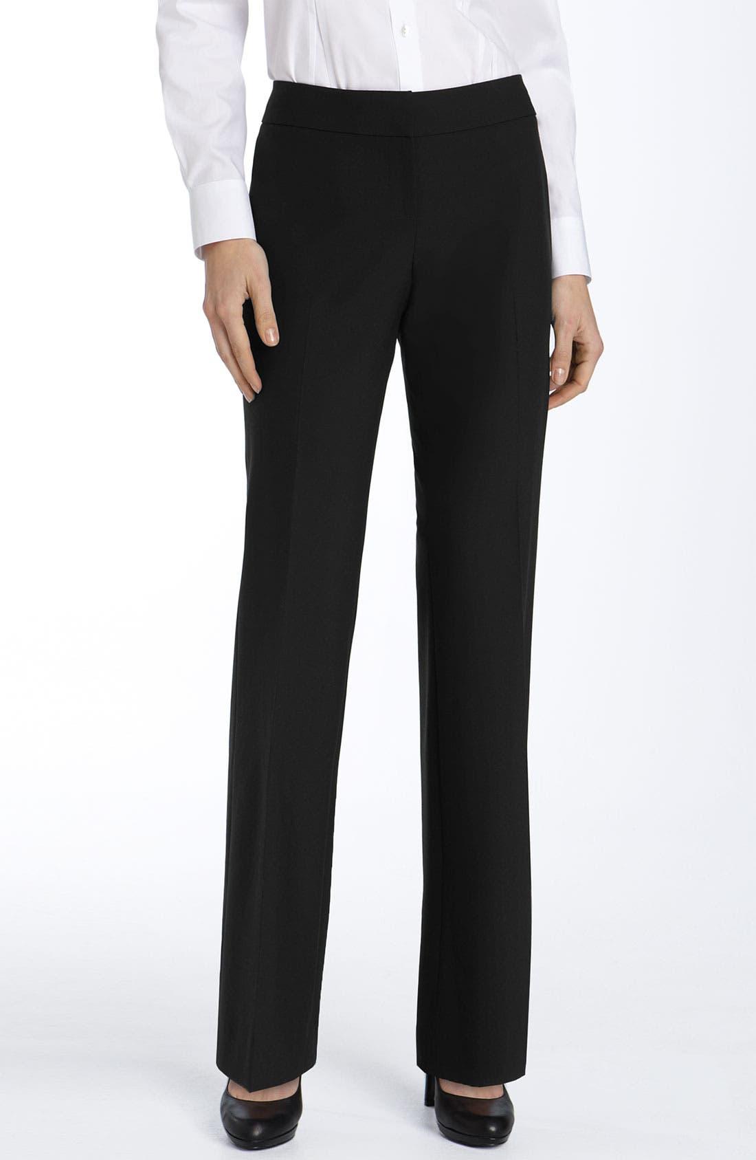 Alternate Image 1 Selected - Halogen® 'Taylor' Straight Leg Pants (Petite)