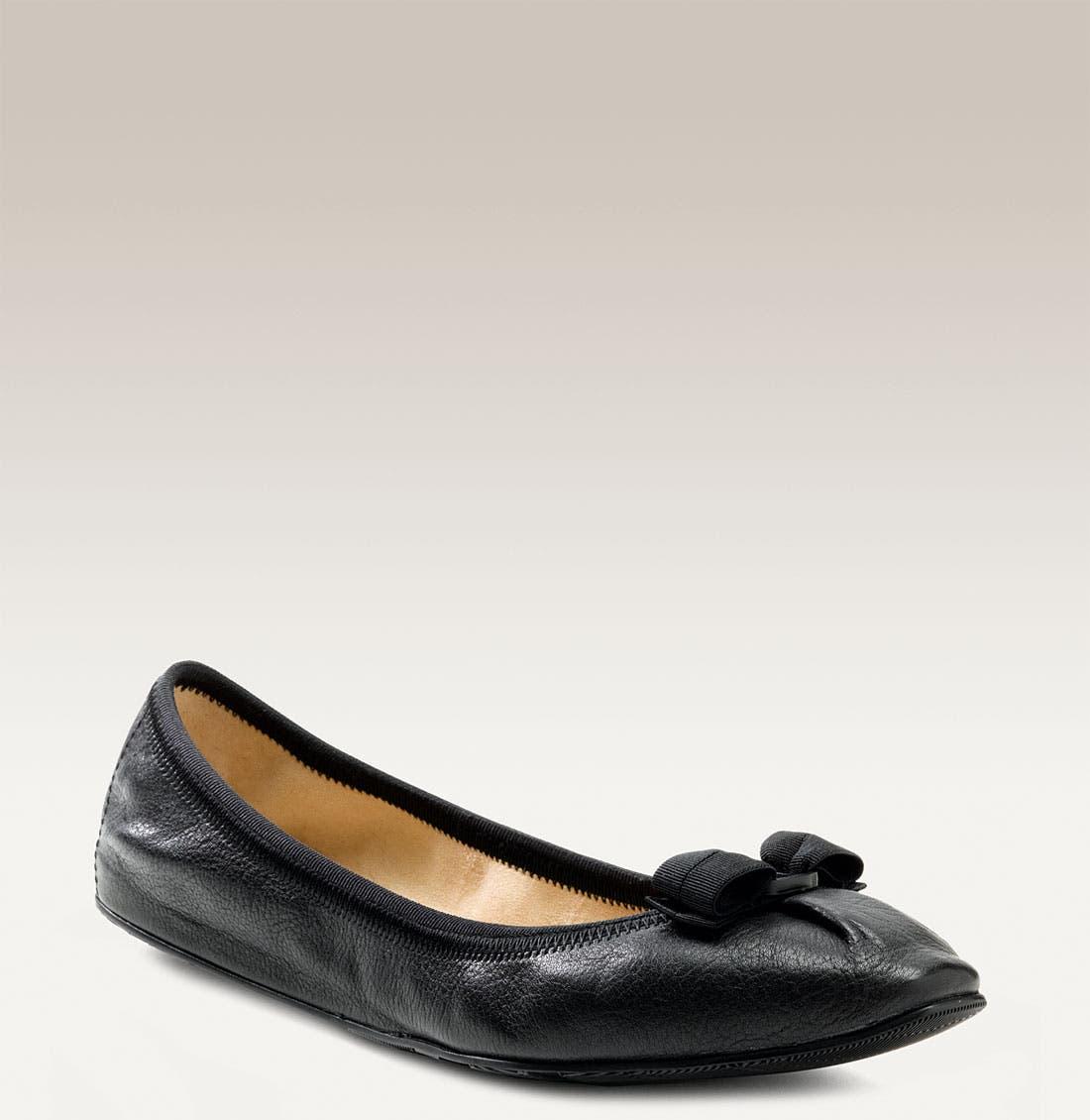 Alternate Image 1 Selected - Salvatore Ferragamo Skimmer Flat (Women)