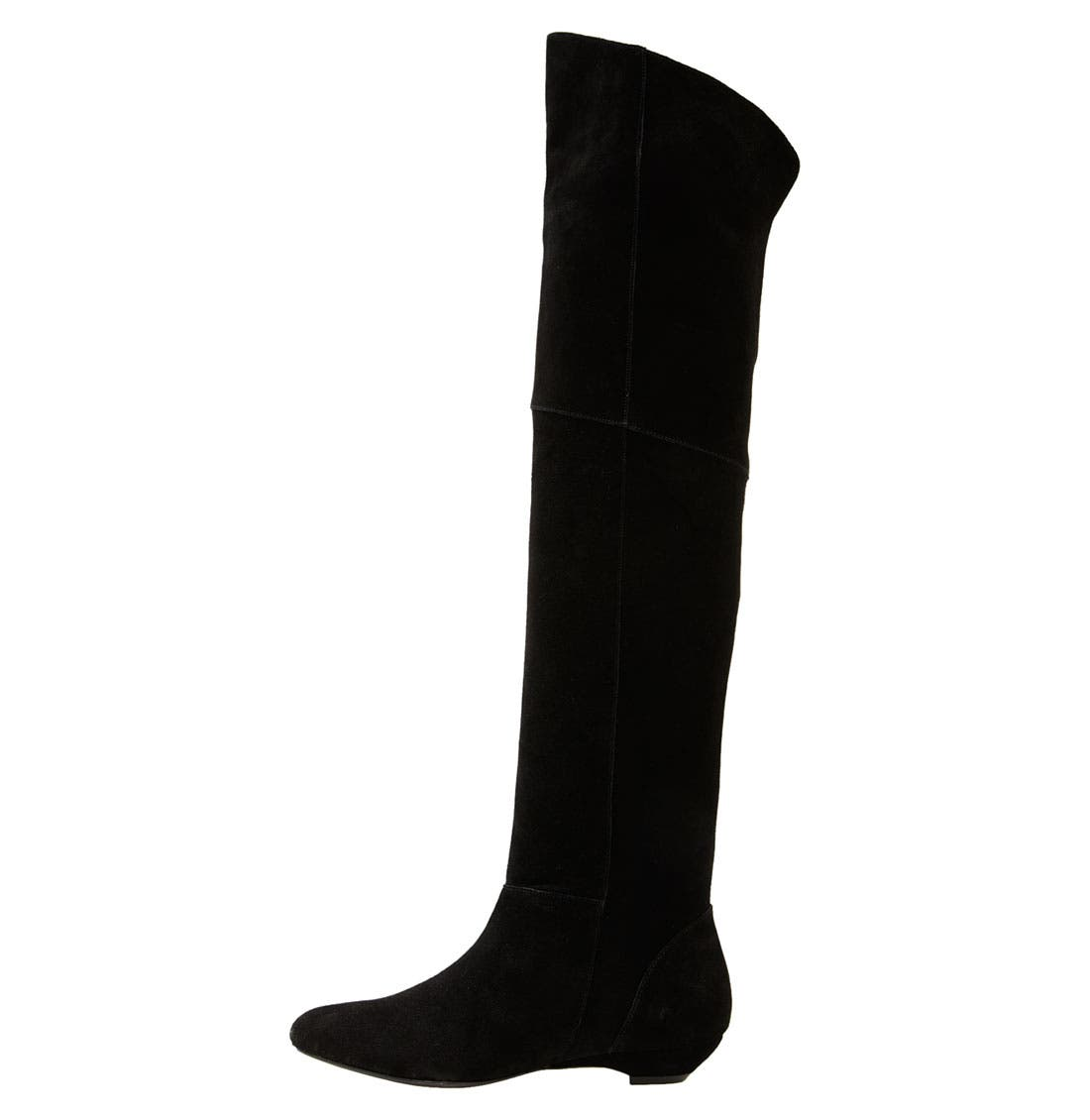 'Overrpas' Over the Knee Boot,                             Alternate thumbnail 2, color,                             Black Suede
