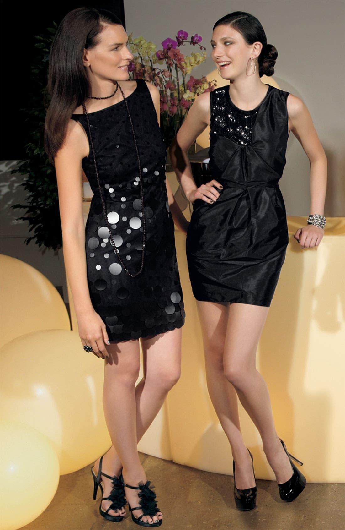 Alternate Image 3  - Alexia Admor Sequin Trim Taffeta Sheath Dress