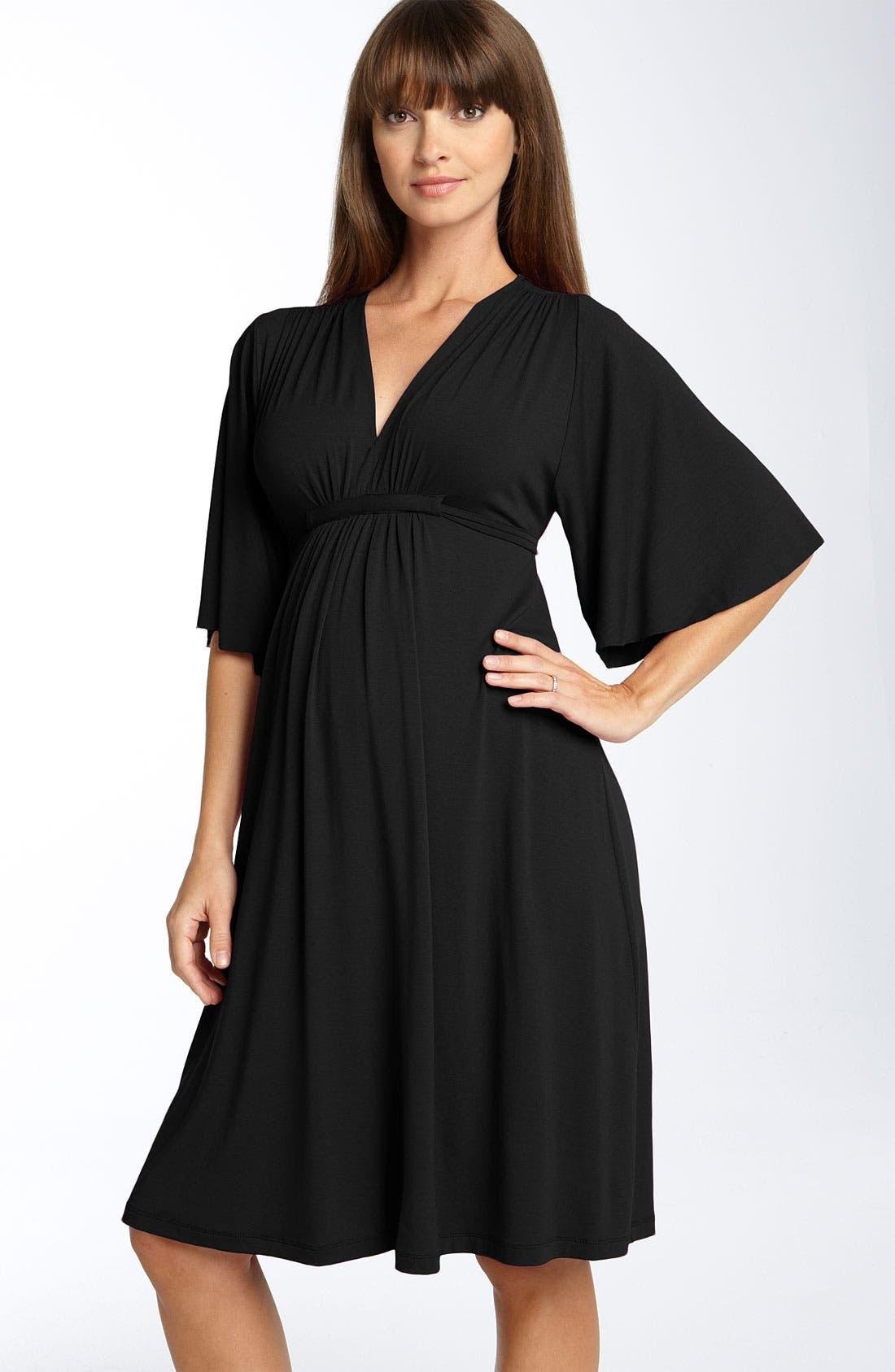 Main Image - Olian Empire Waist Maternity Dress
