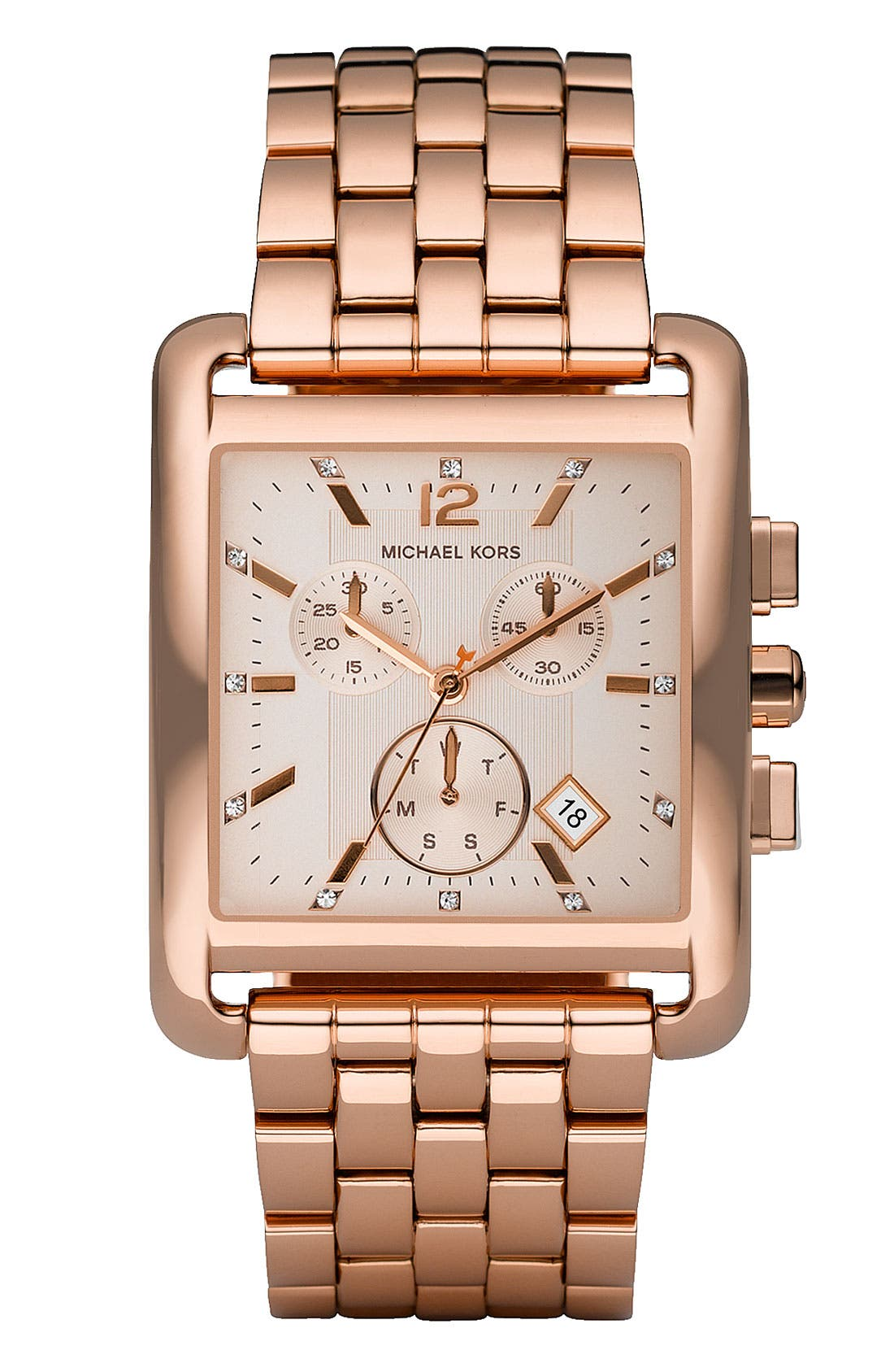 Alternate Image 1 Selected - Michael Kors Rectangle Case Chronograph Watch