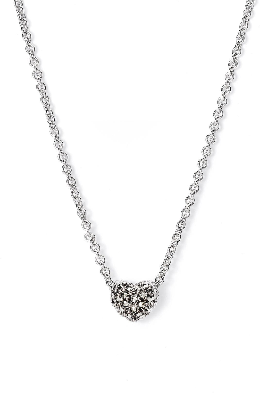 Main Image - Judith Jack Reversible Pavé Heart Necklace