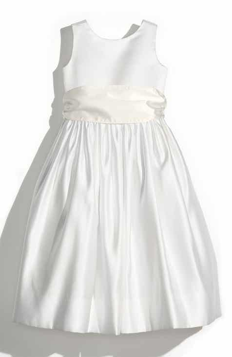 fd4e5bf250c0d Us Angels Sleeveless Satin Dress with Contrast Sash (Toddler Girls