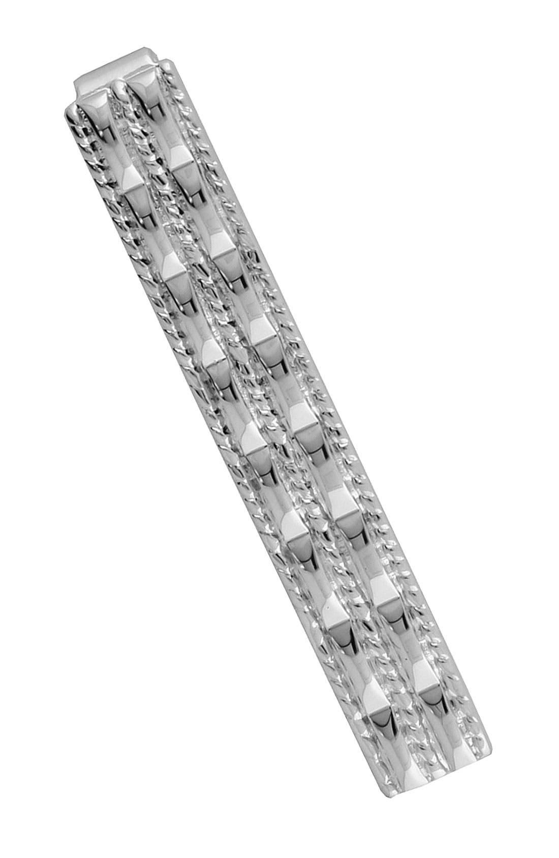 Sterling Silver Tie Clip,                         Main,                         color, Silver Braid