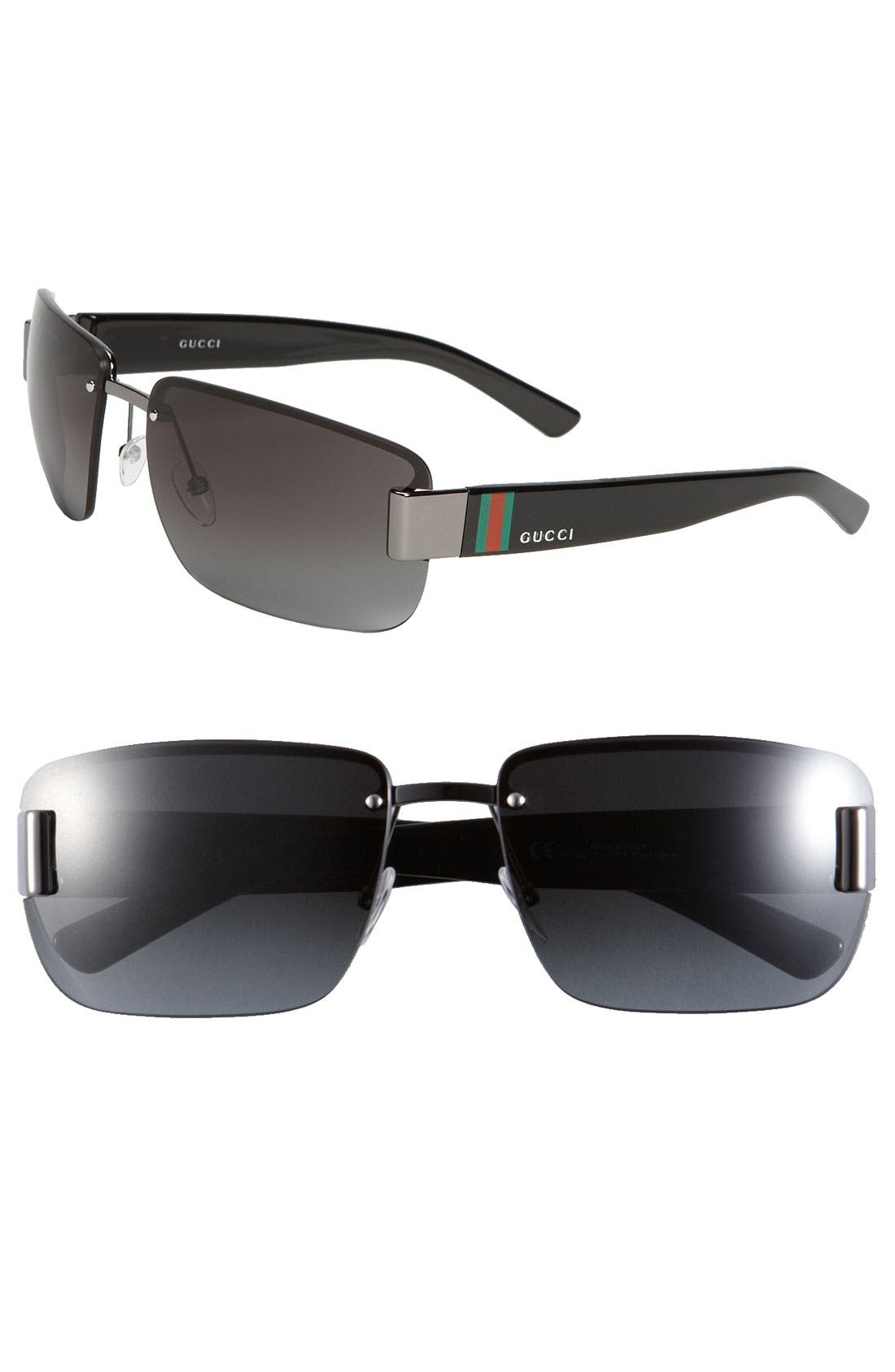 Alternate Image 1 Selected - Gucci Top Frame 61mm Sunglasses