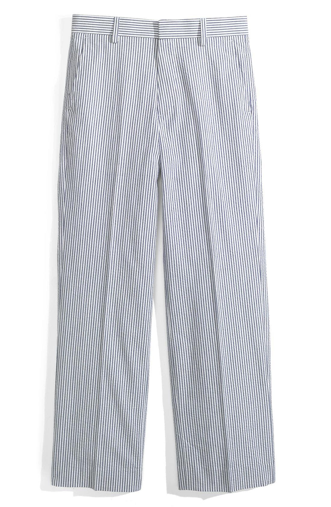 Seersucker Pants,                             Main thumbnail 1, color,                             Blue Stripe