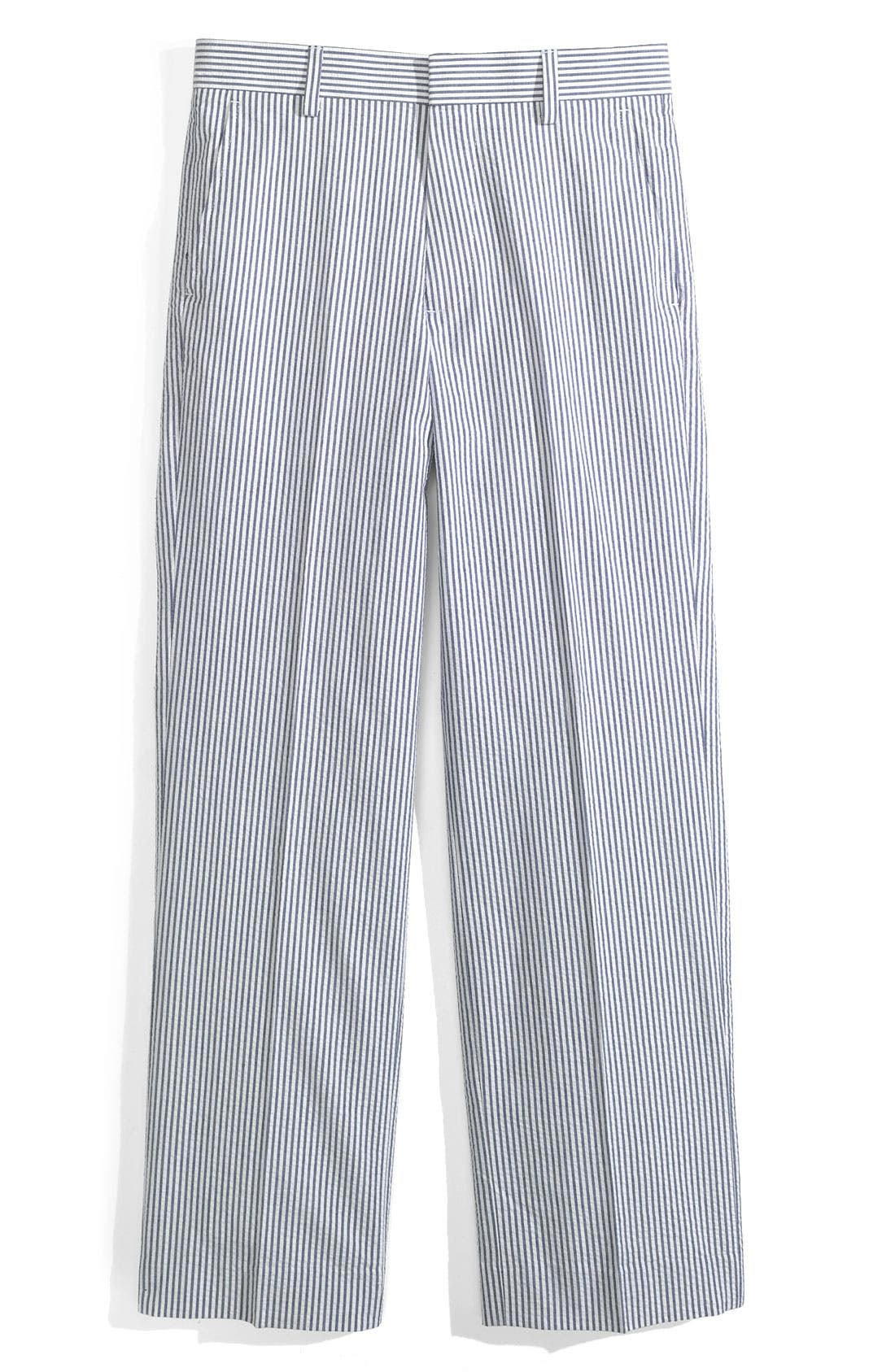 Seersucker Pants,                         Main,                         color, Blue Stripe