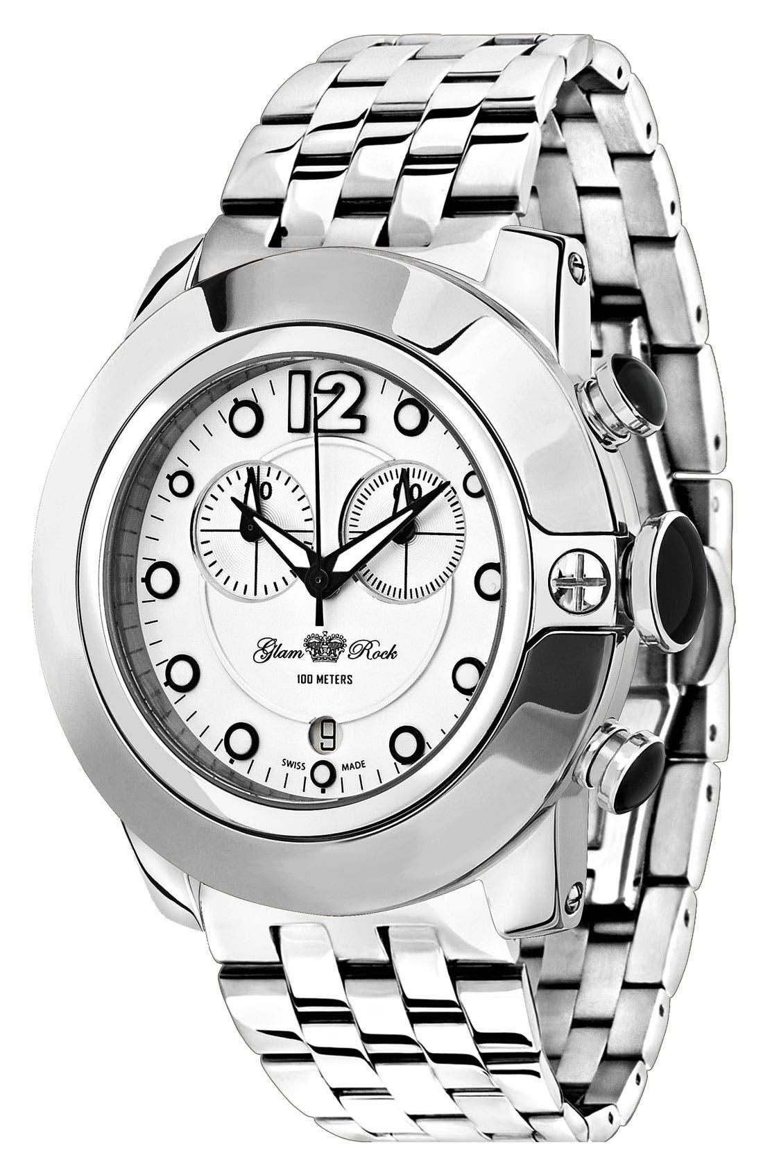 Alternate Image 1 Selected - Glam Rock 'So Be Mood' Bracelet Watch