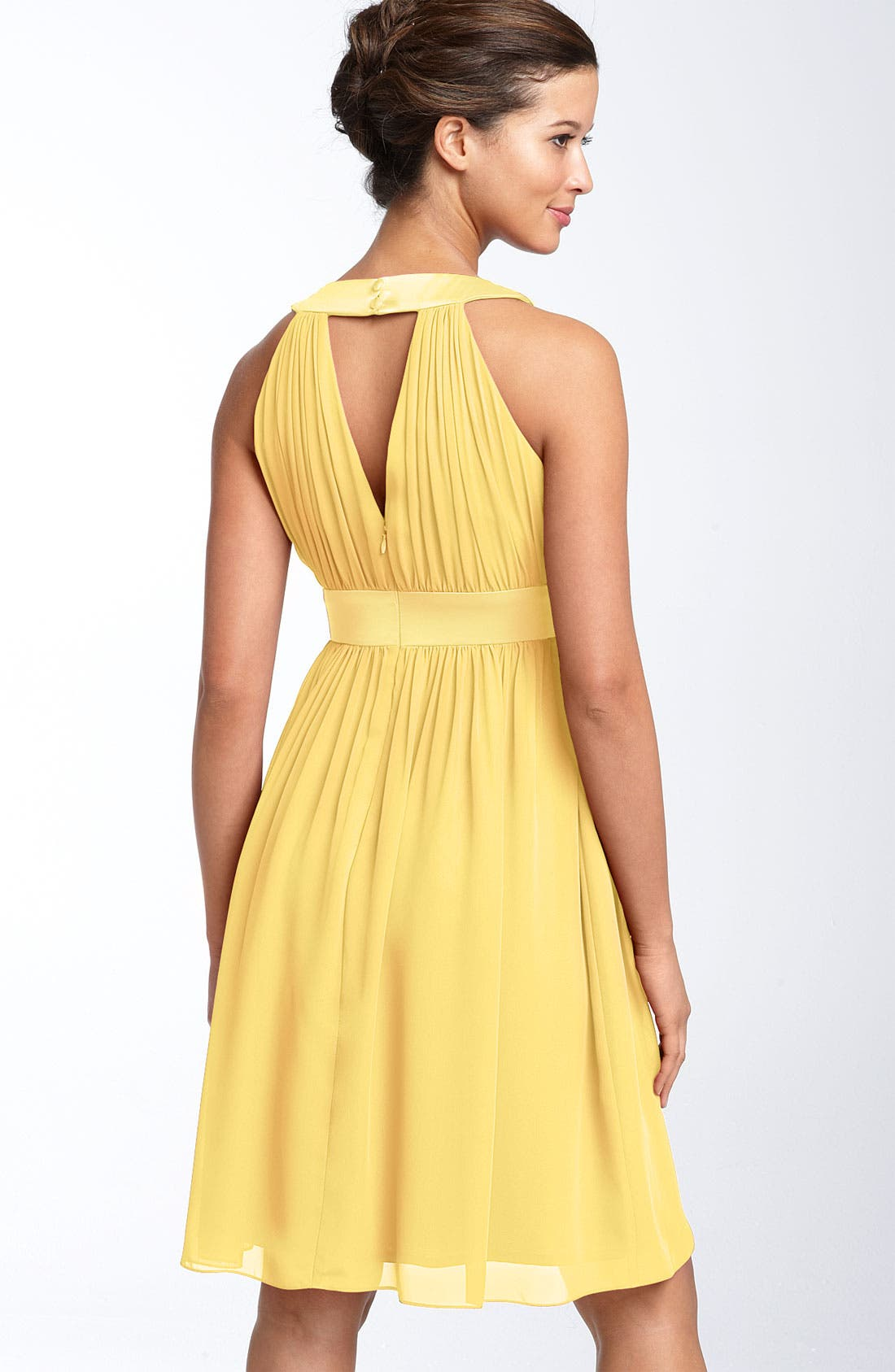 Alternate Image 2  - Maggy London Keyhole Chiffon Dress