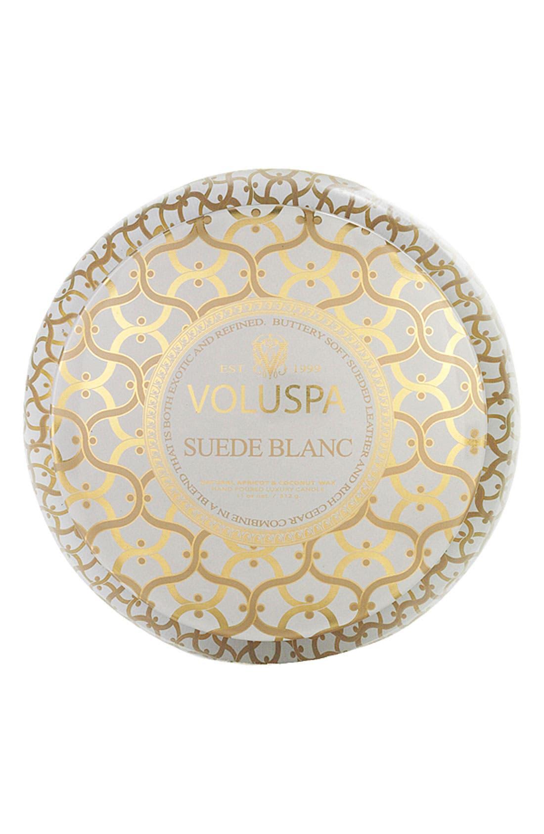 Alternate Image 2  - Voluspa 'Classic Maison - Suede Blanc' 2-Wick Candle