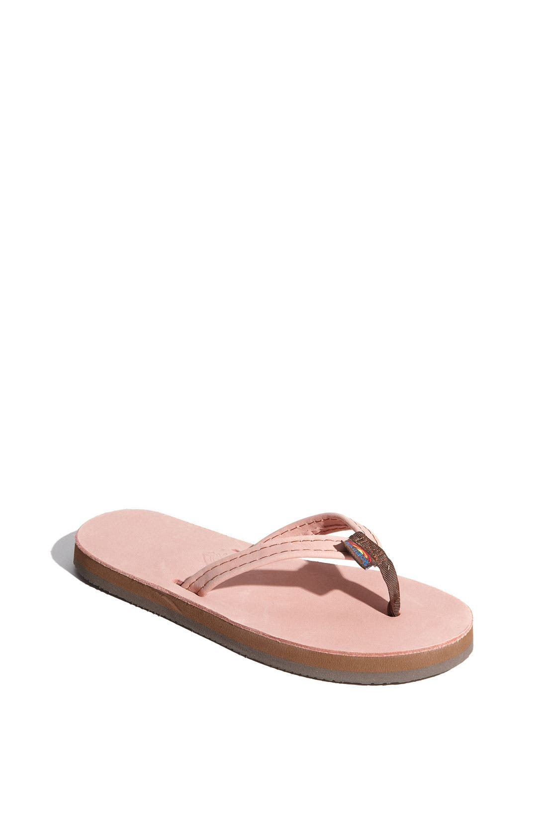 Alternate Image 1 Selected - Rainbow Leather Flip Flop (Toddler, Little Kid & Big Kid)