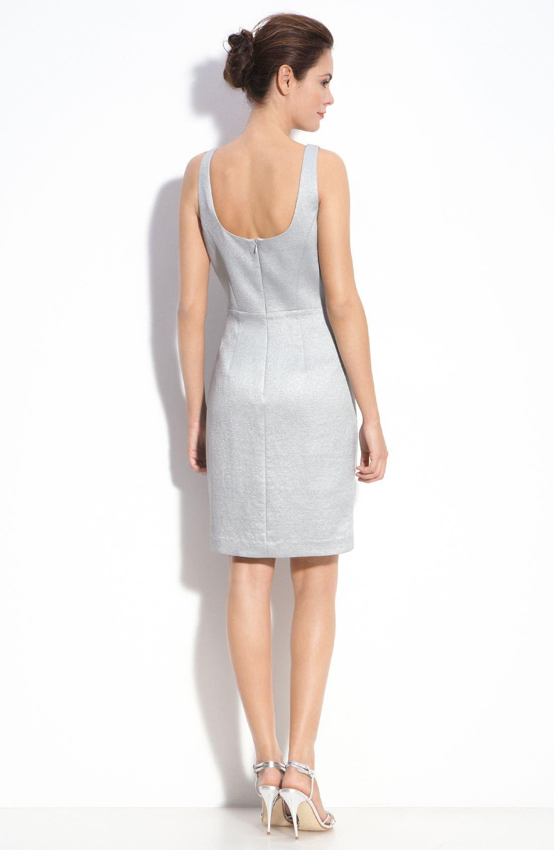 Alternate Image 3  - Adrianna Papell Metallic Crepe Sheath Dress & Bolero