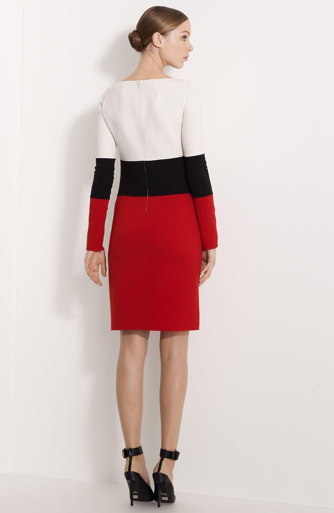Alternate Image 2  - Michael Kors Colorblocked Double Face Stretch Crepe Dress