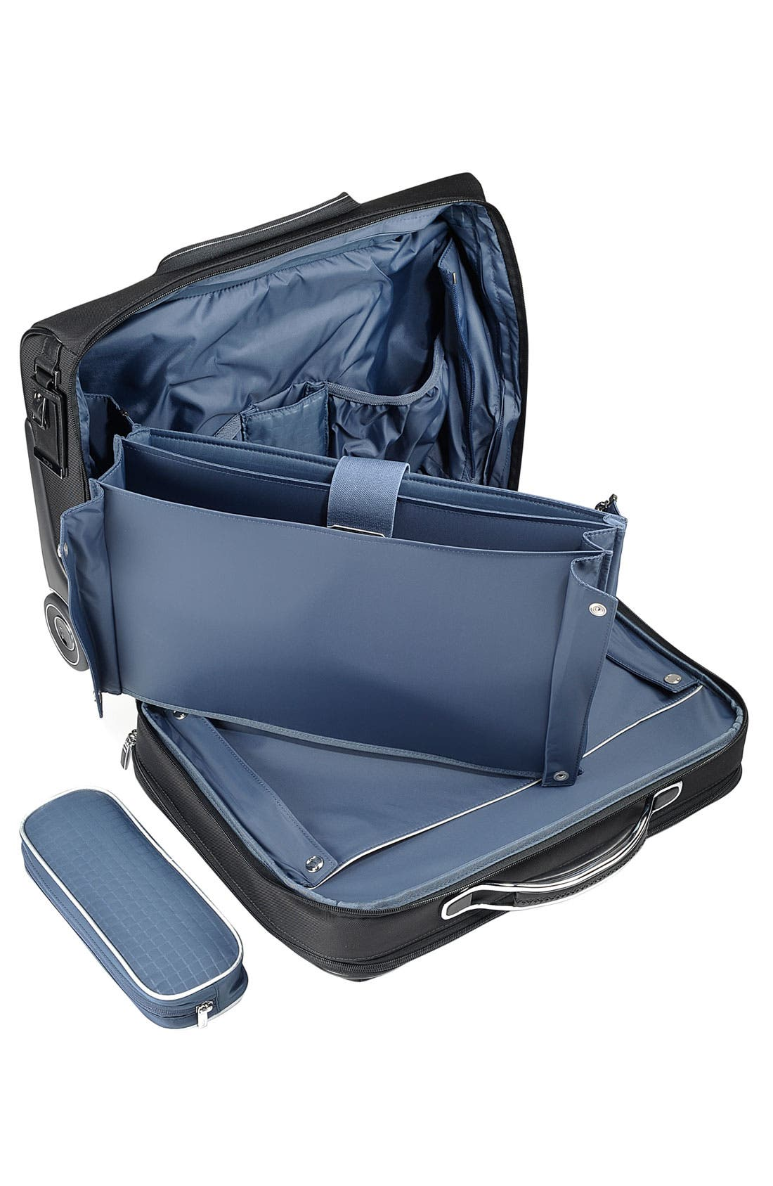 'Arrive - LaGuardia' Wheeled Briefcase with Laptop Insert,                             Alternate thumbnail 3, color,                             Black
