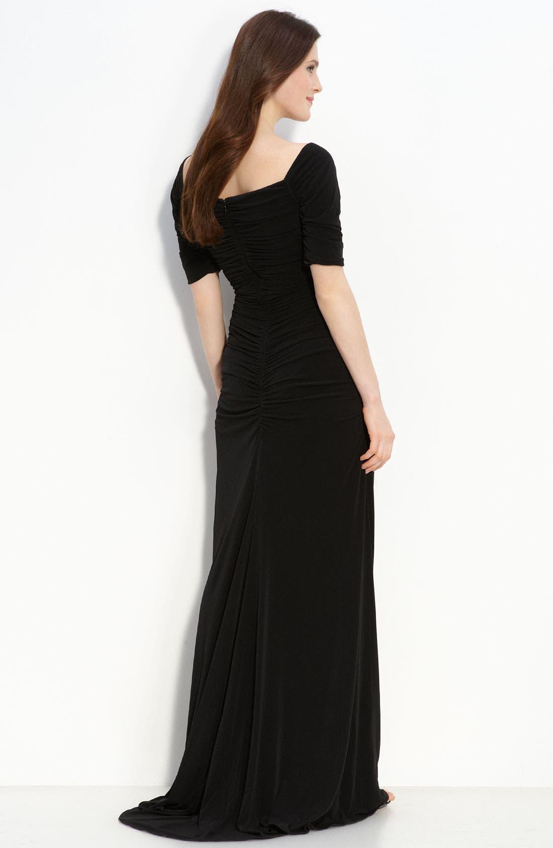 Alternate Image 2  - Calvin Klein Ruched Jersey Dress