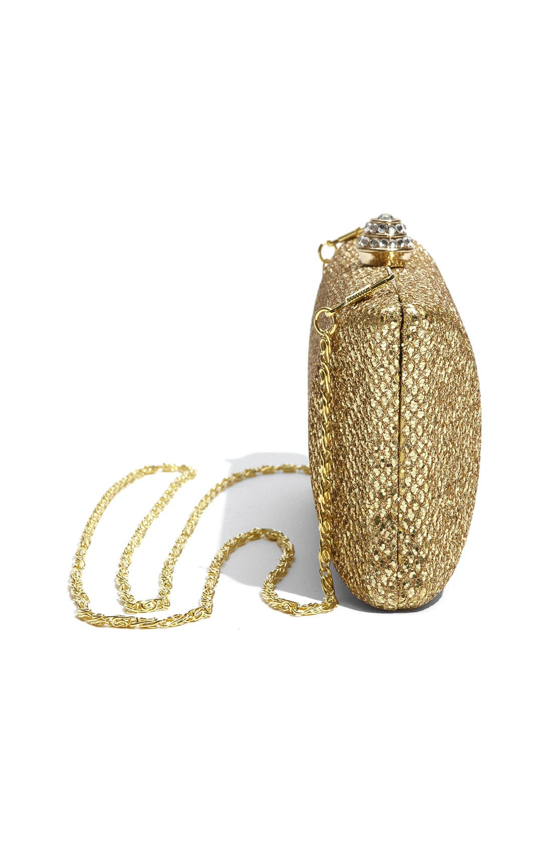 Alternate Image 2  - Tasha 'Glitter' Embossed Metal Clutch