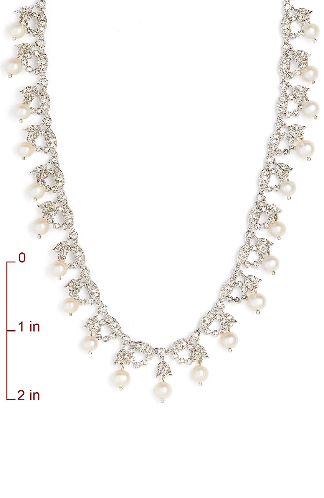 Alternate Image 2  - CZ by Kenneth Jay Lane Glass Pearl Garland Necklace