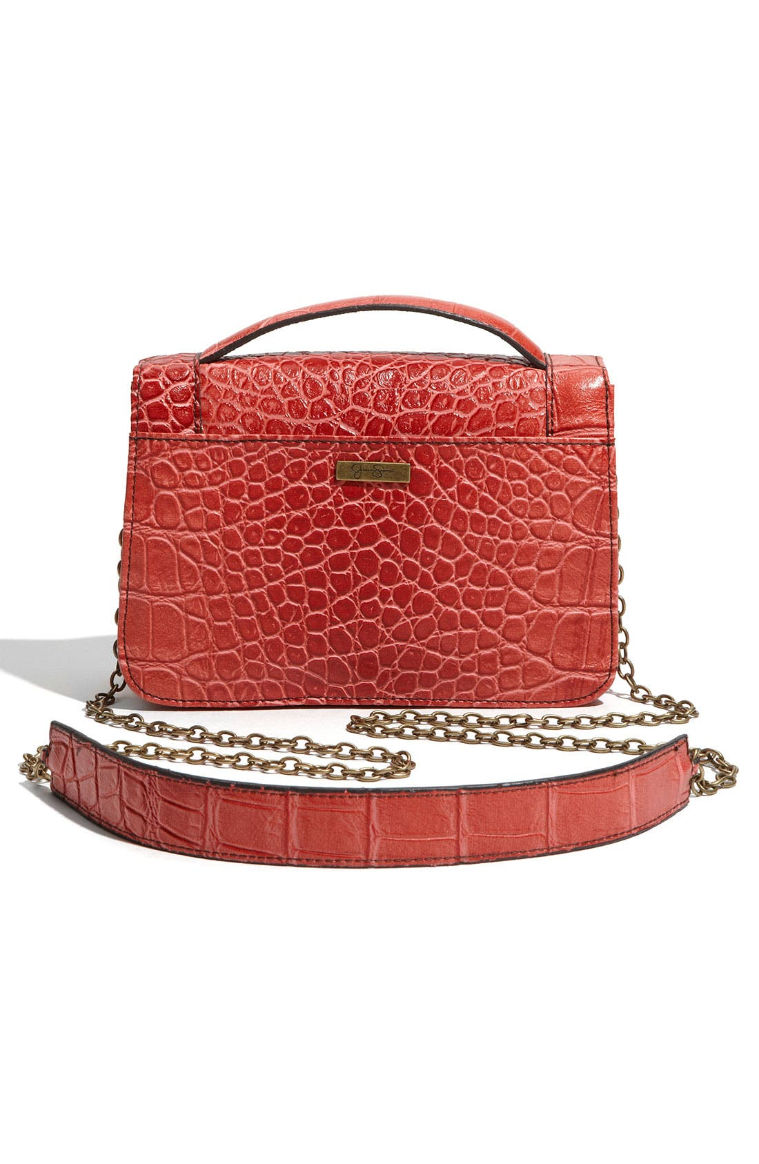 Alternate Image 4  - Jessica Simpson 'Bella' Faux Leather Crossbody Bag