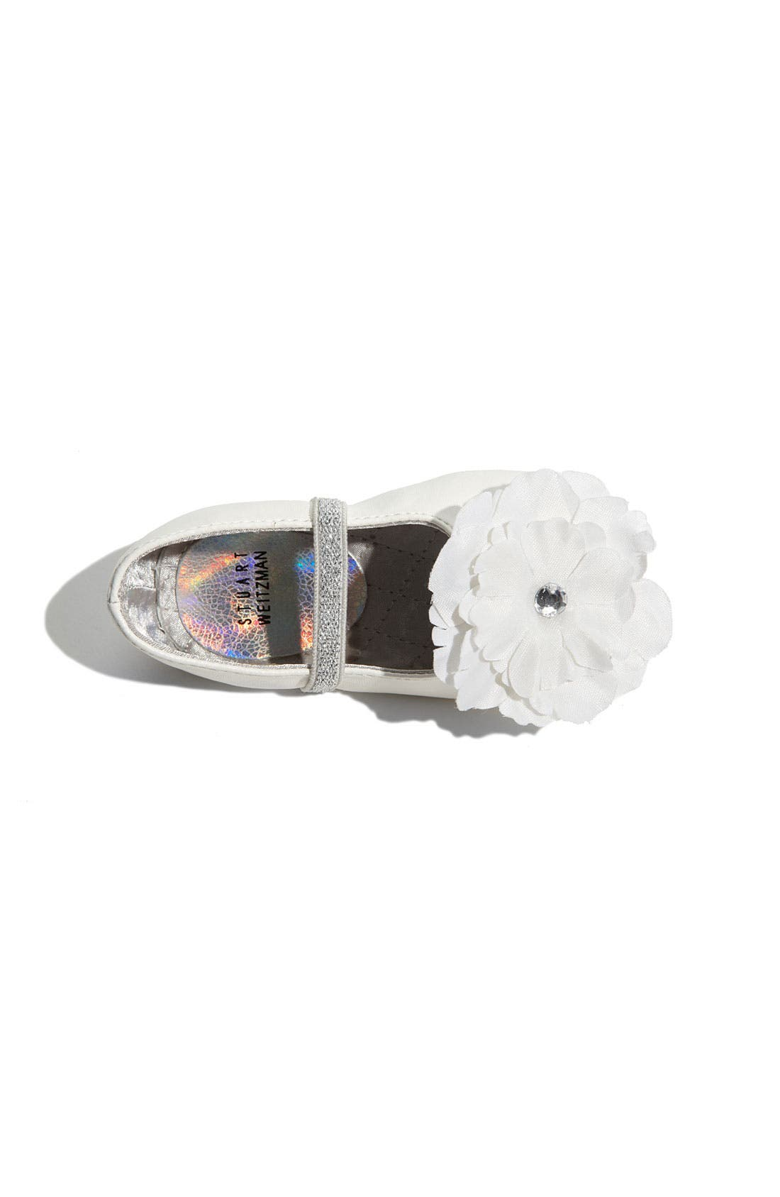 'Baby Bud' Crib Shoe,                             Alternate thumbnail 3, color,                             White