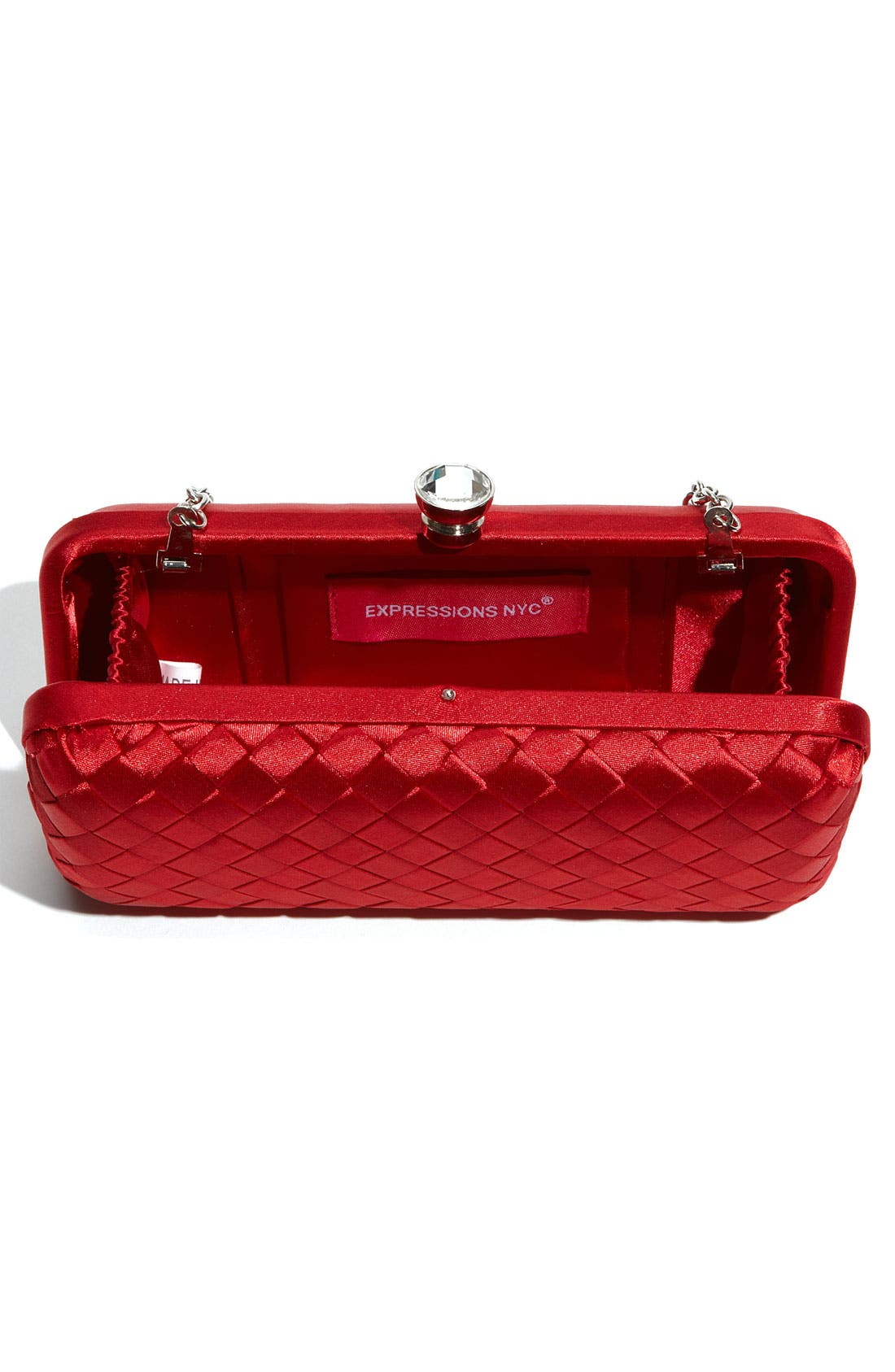 Alternate Image 3  - Expressions NYC Woven Satin Minaudiere Clutch
