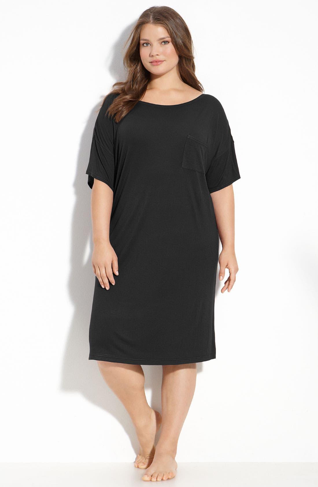 'Perfect' Night Shirt,                         Main,                         color, Black