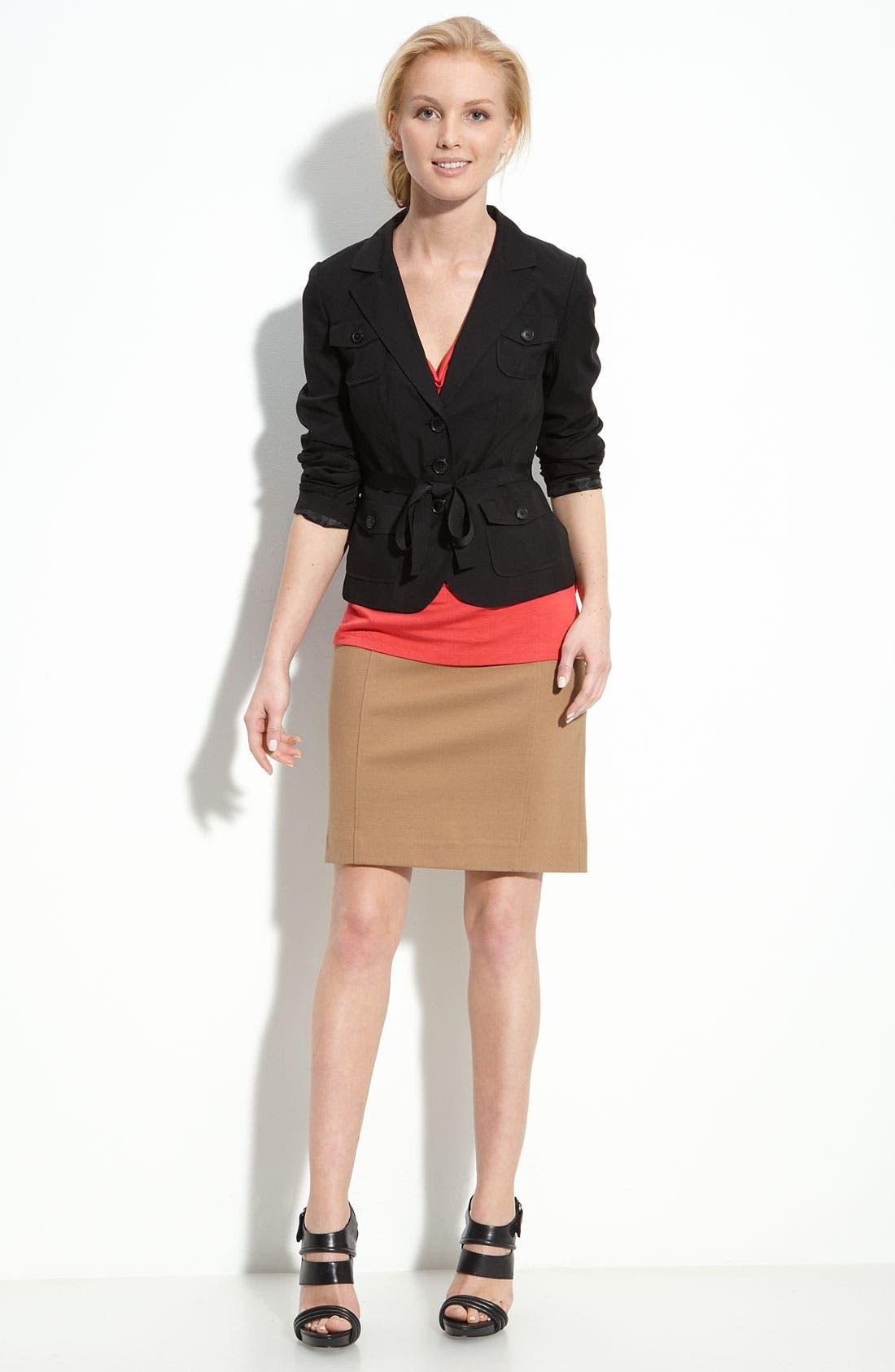Alternate Image 3  - Halogen® Ribbon Belted Jacket