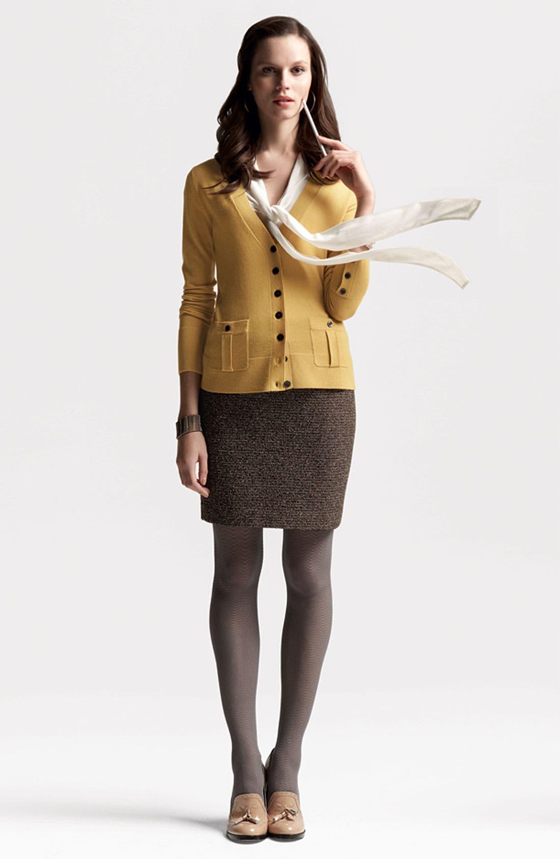 Alternate Image 2  - Halogen® Merino Wool V-Neck Cardigan