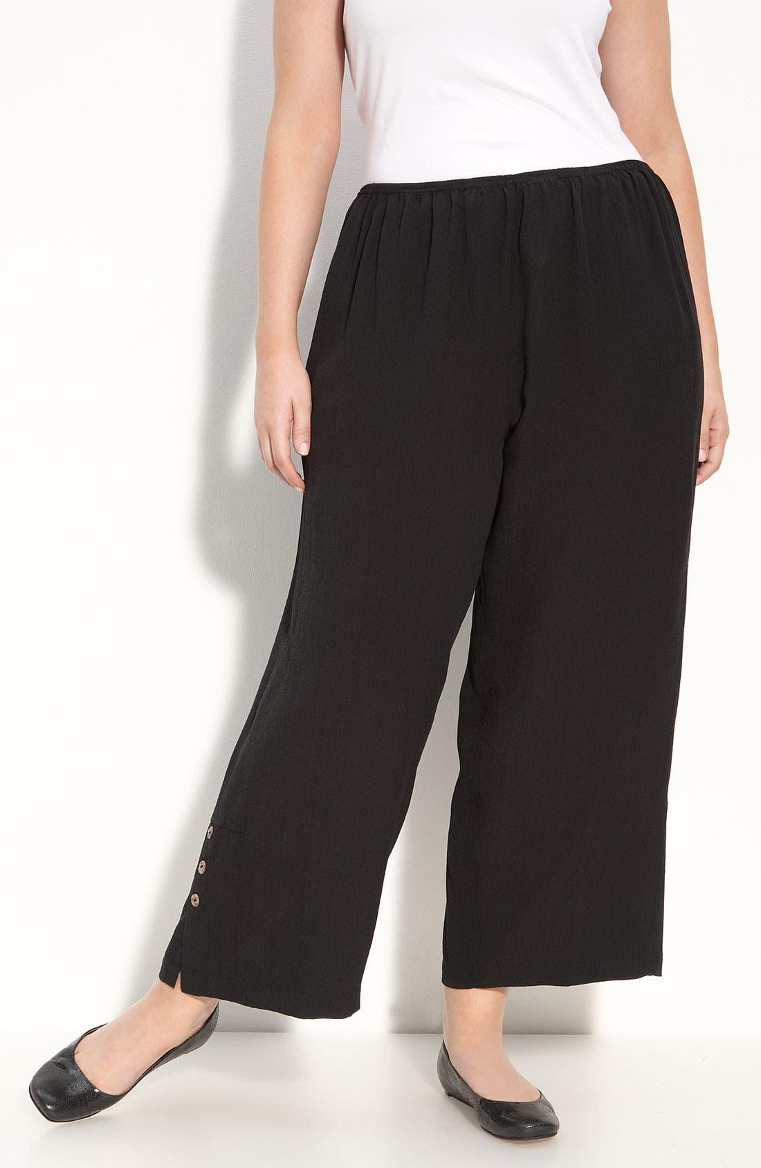 Main Image - Citron Crop Silk Pants (Plus)