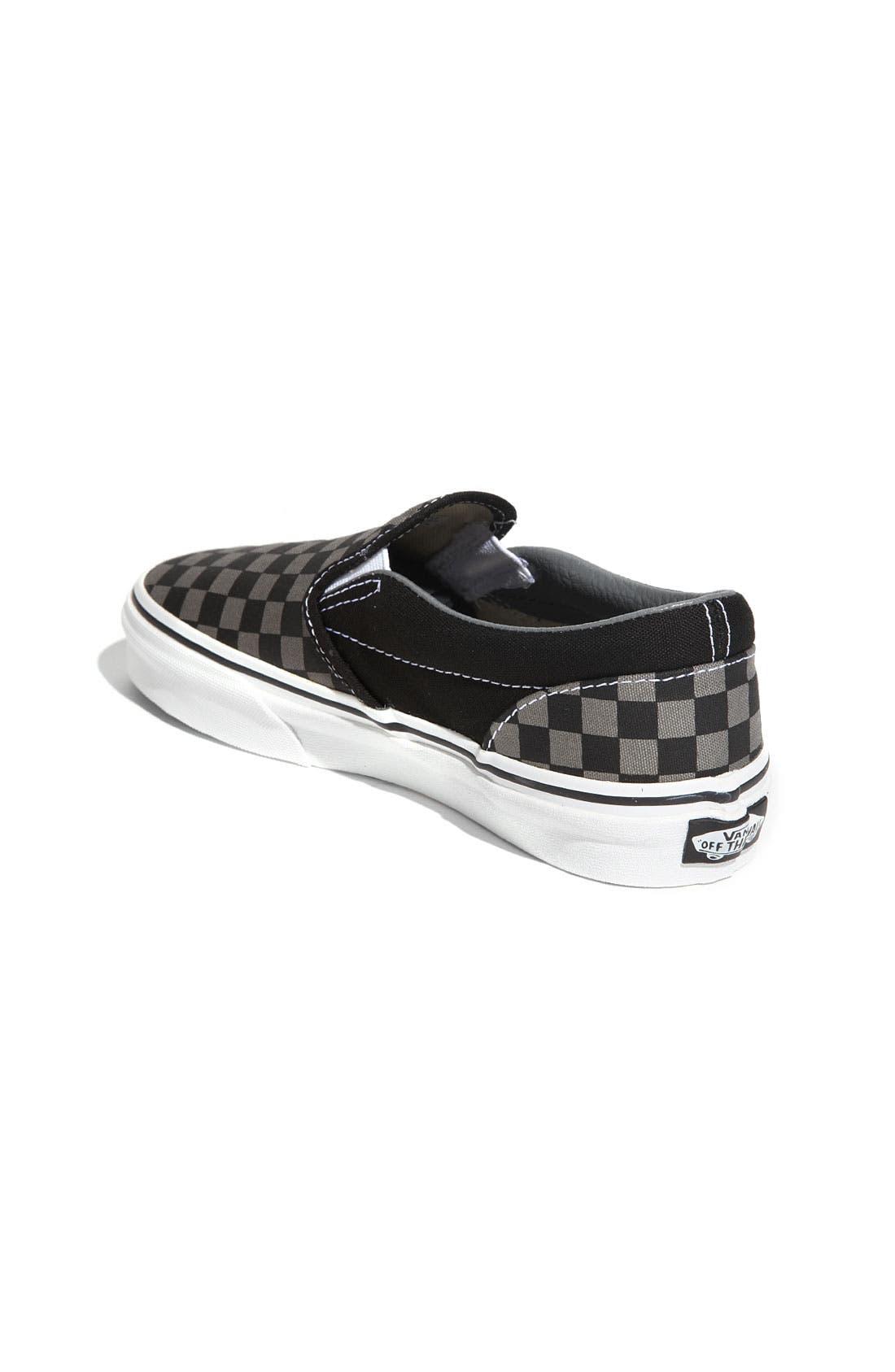Alternate Image 2  - Vans 'Classic - Checker' Slip-On (Toddler, Little Kid & Big Kid)