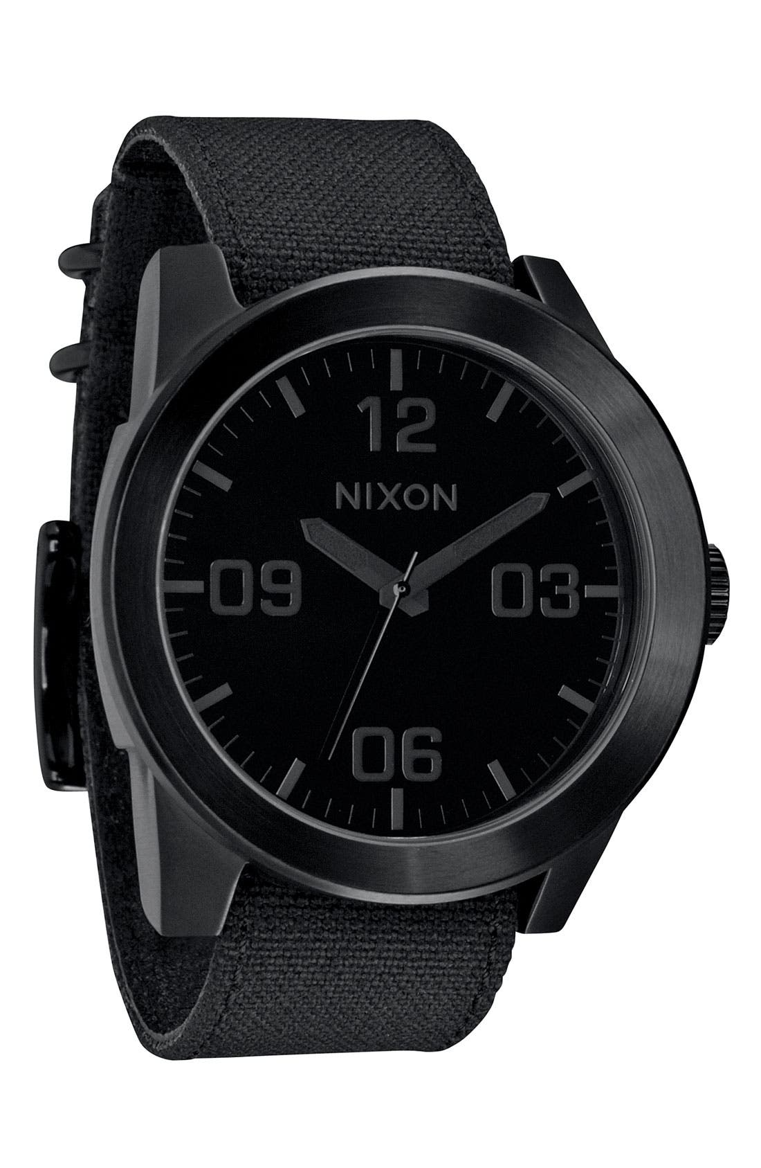Alternate Image 1 Selected - Nixon 'The Corporal' Watch, 48mm