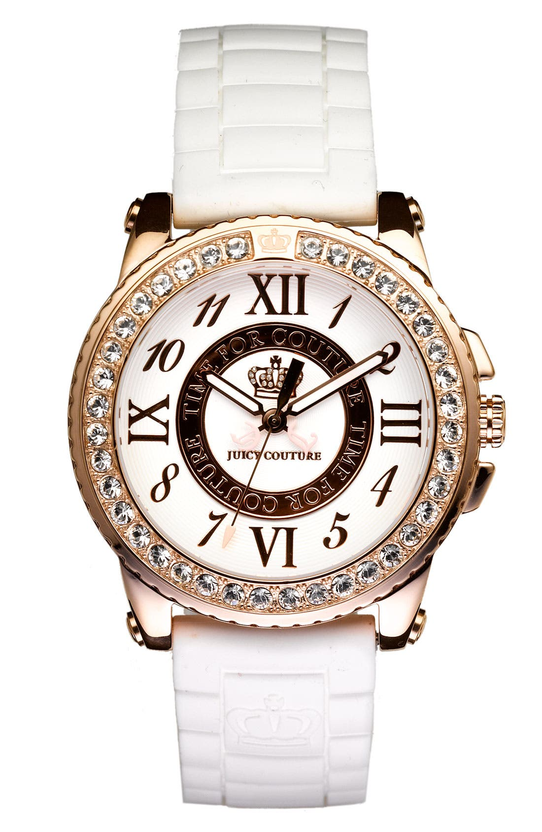 Alternate Image 1 Selected - Juicy Couture 'Pedigree' Jelly Strap Watch