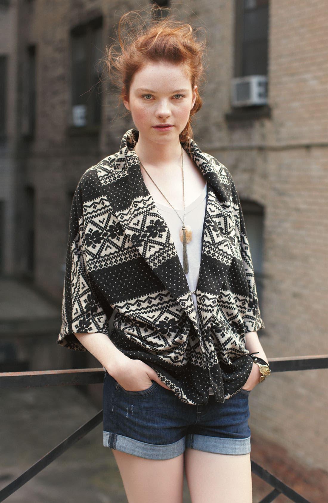 Alternate Image 3  - Jolt Fair Isle Shawl Collar Jacket (Juniors)