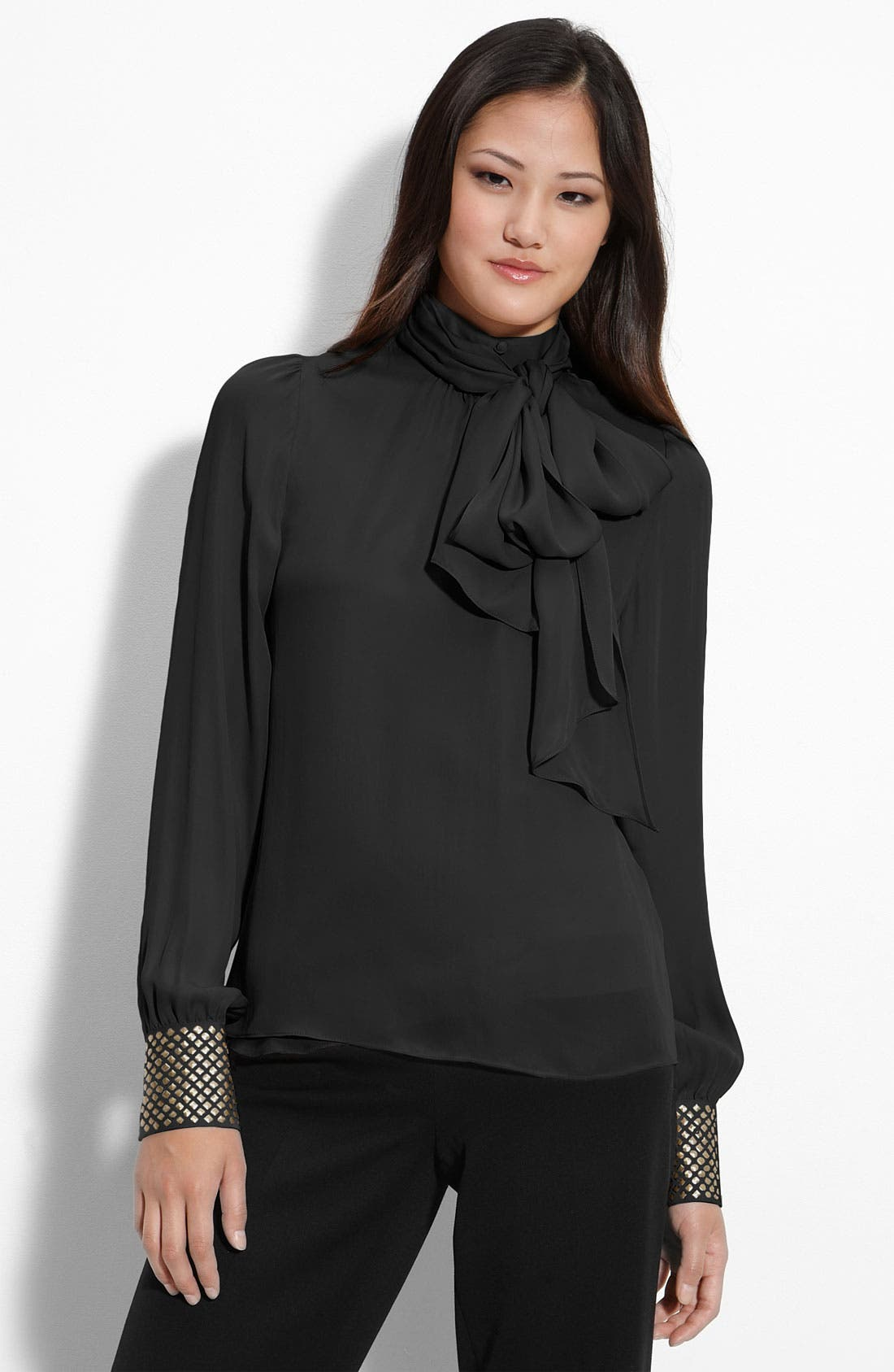 Main Image - Vince Camuto Studded Cuff Blouse