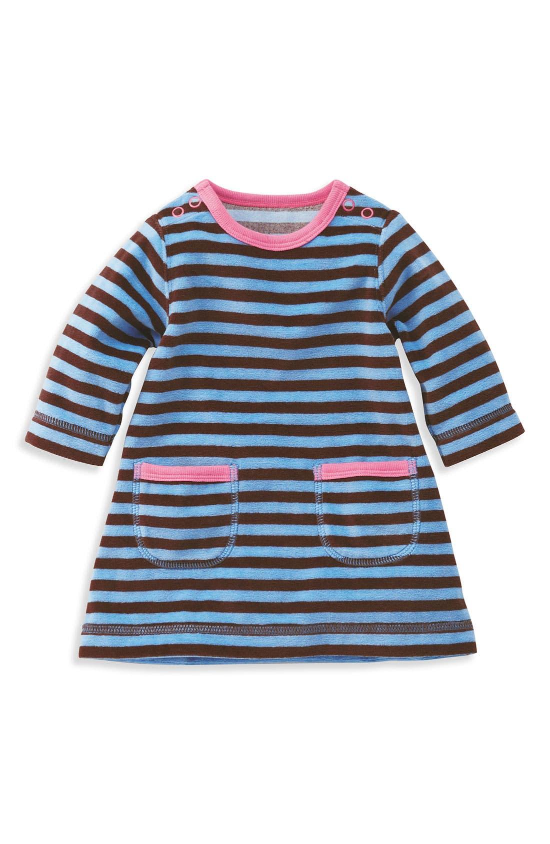 Alternate Image 1 Selected - Mini Boden Velour Dress (Infant)