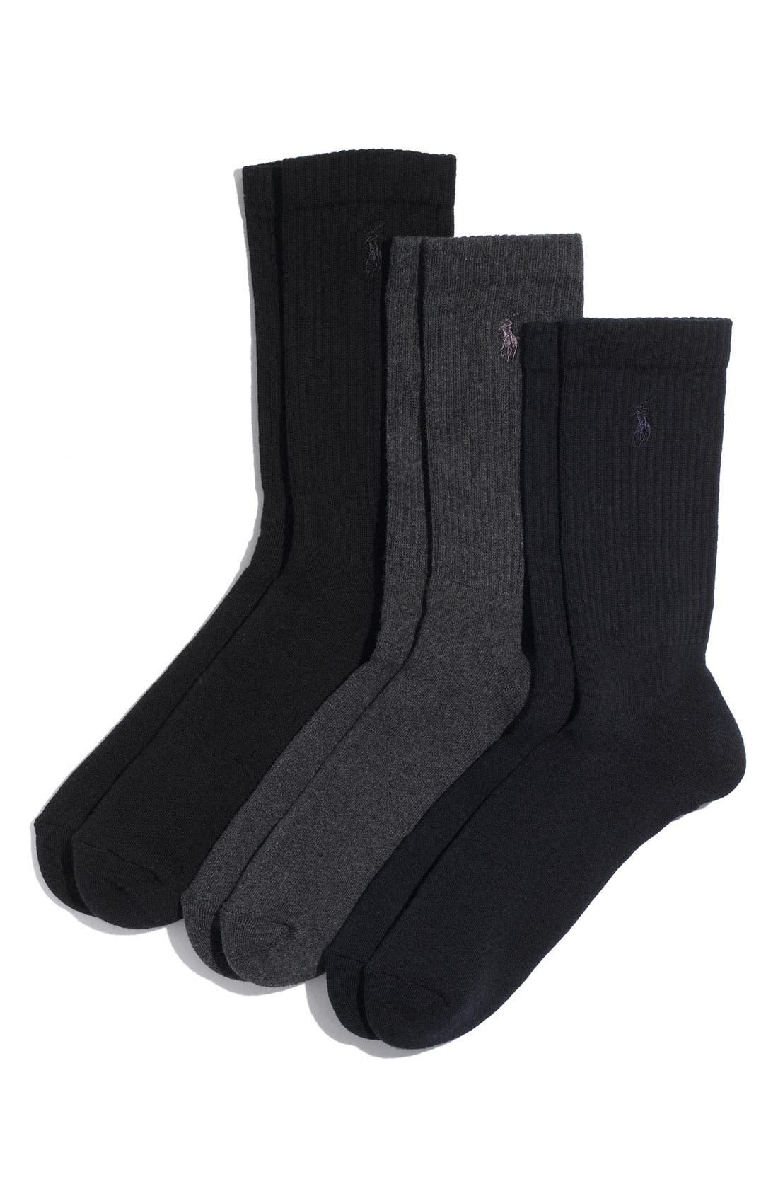 Alternate Image 1 Selected - Polo Ralph Lauren 3-Pack Crew Socks